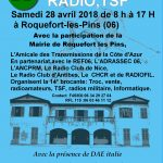brocante radio tsf 28 avril 2018 roquefort les pins